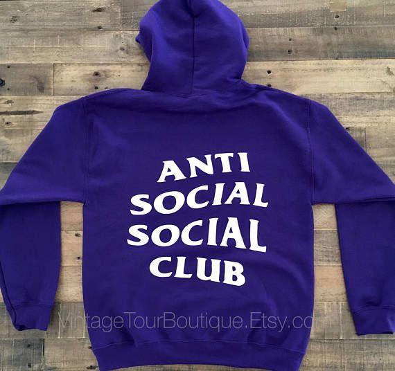 ed88ea065527 Anti Social Social Club Hoodie Purple ASSC    clothing  hoodie   EtsyMktgTool http