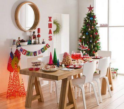 zonas de la casa para decorar en navidad