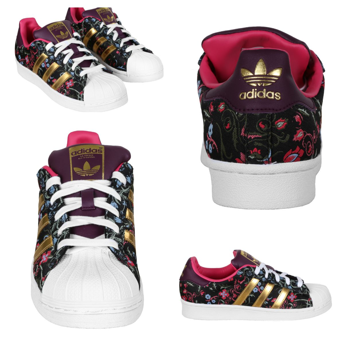 adidas Originals Shoes Wmns Superstar Russian-inspired floral graphics and  golden 3-Stripes.
