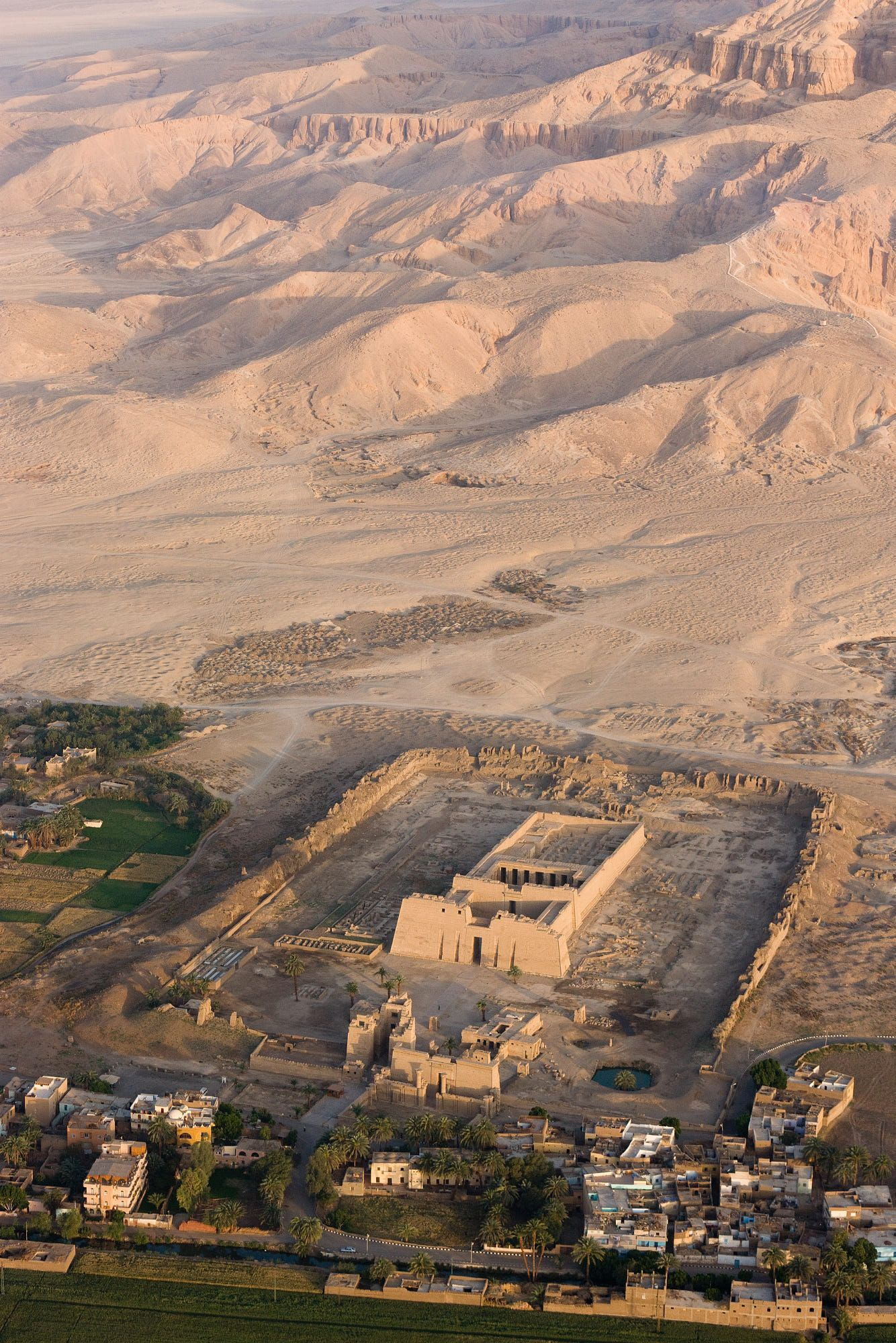 Aerial view of Habu Temple and Valley of the