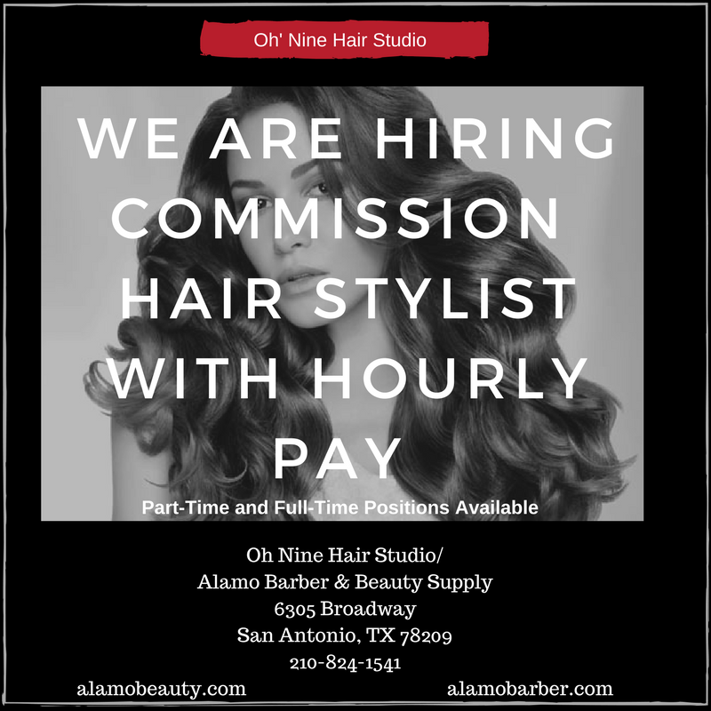 Now Hiring Commission Hairstylist 60 40 With Hourly Pay