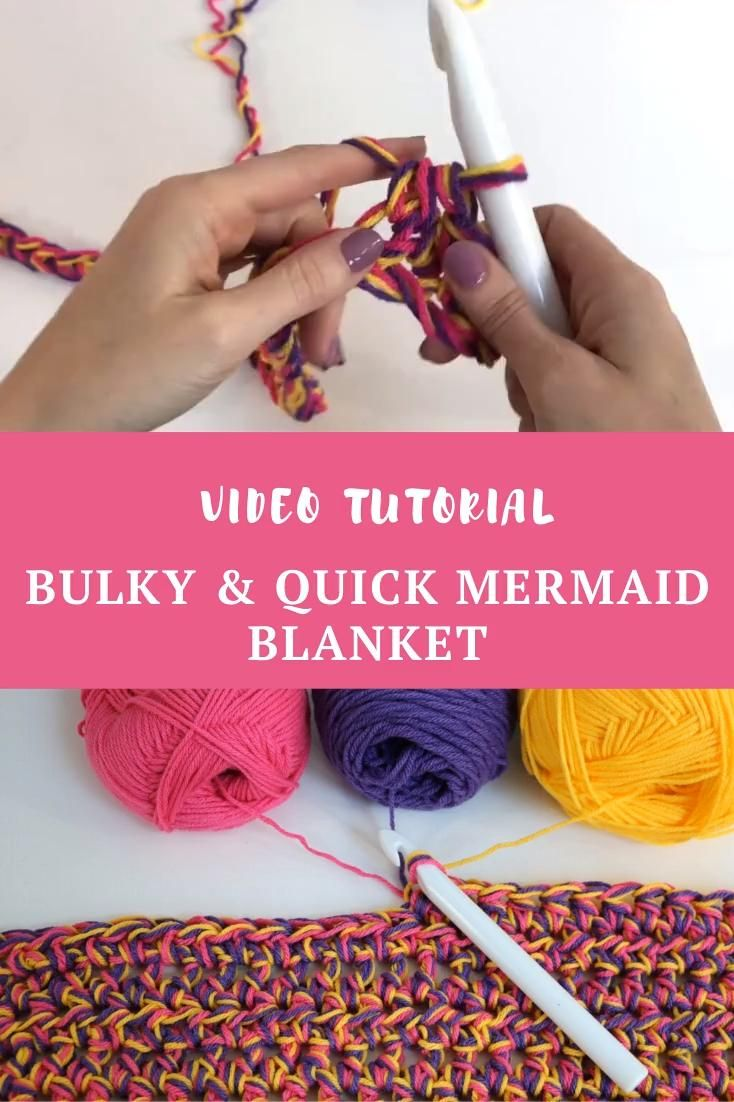 Photo of Bulky & Quick Mermaid Blanket