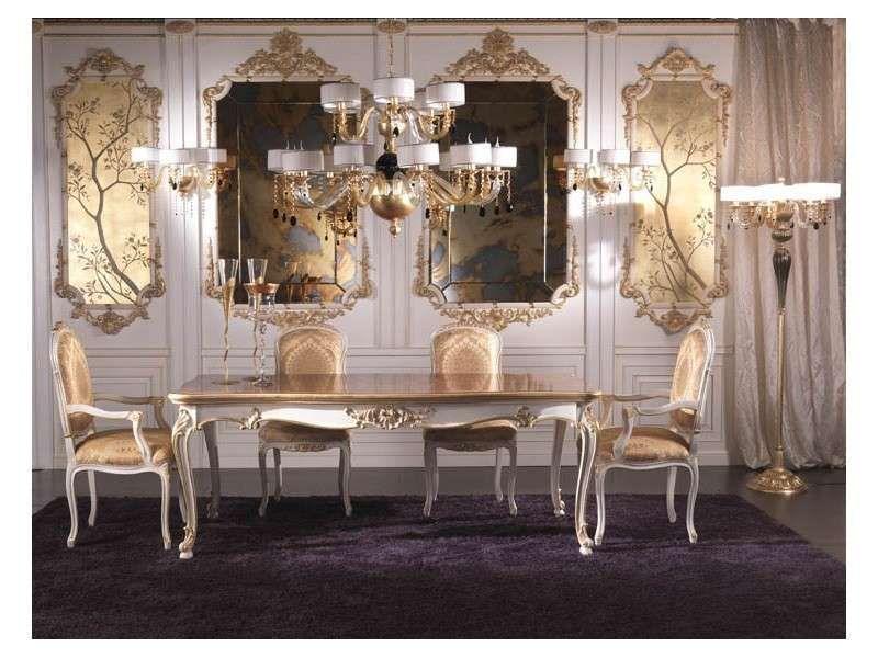 Sala da pranzo stile veneziano - Tavolo e sedie dal gusto antico ...