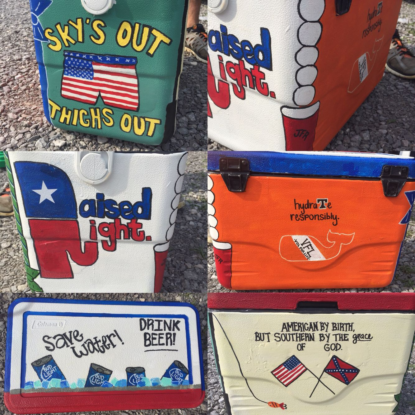 Painted Cooler For Guys Bae Gift Painted Ice Chest Cooler Designs