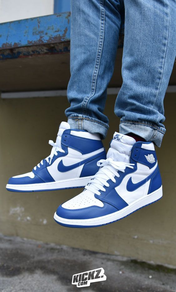 b8686ad647d7 The Air Jordan 1 Retro High OG  Storm Blue  is back for the first time since  it debuted back in 1985. Better get your hands on that one!