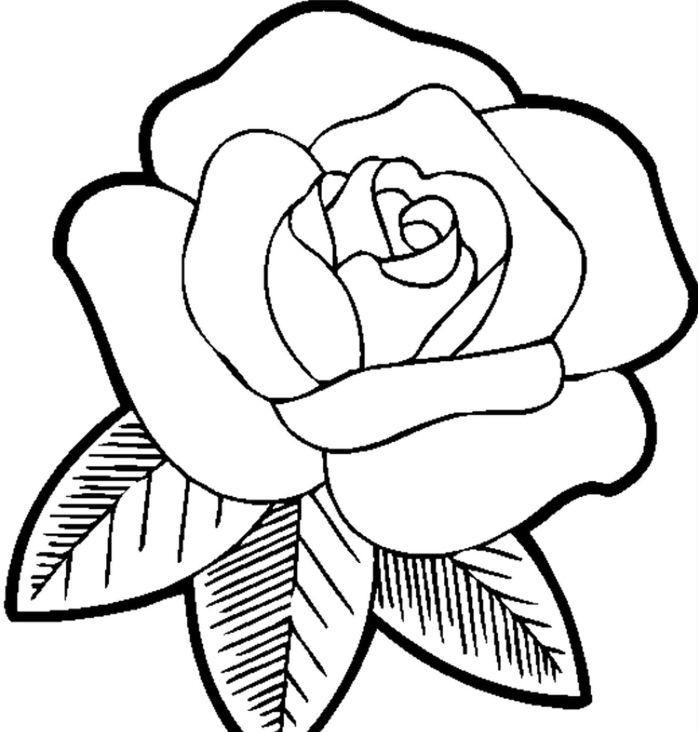 Dessin De Fleur Rose Facile