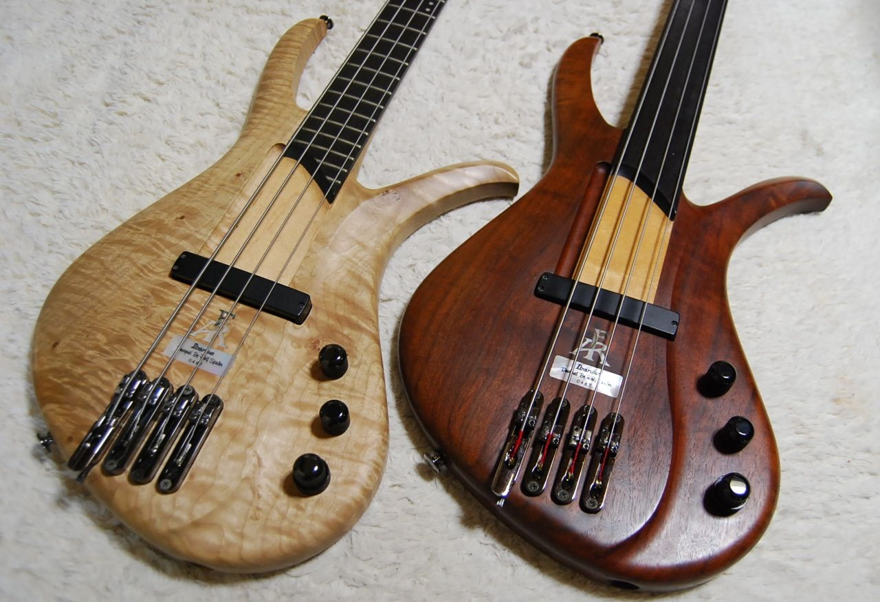 Ibanez Affirma basses, frets, and fretless