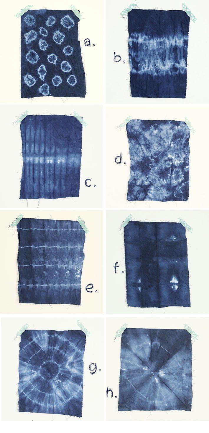 diy shibori 8 motifs à reproduire pour vos diy | mystérieuse voyante