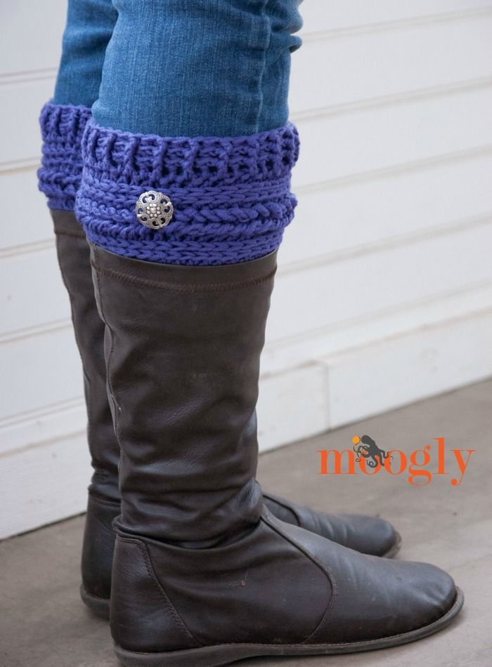Ups and Downs Boot Cuffs - free #crochet pattern on Moogly! | Crafty ...