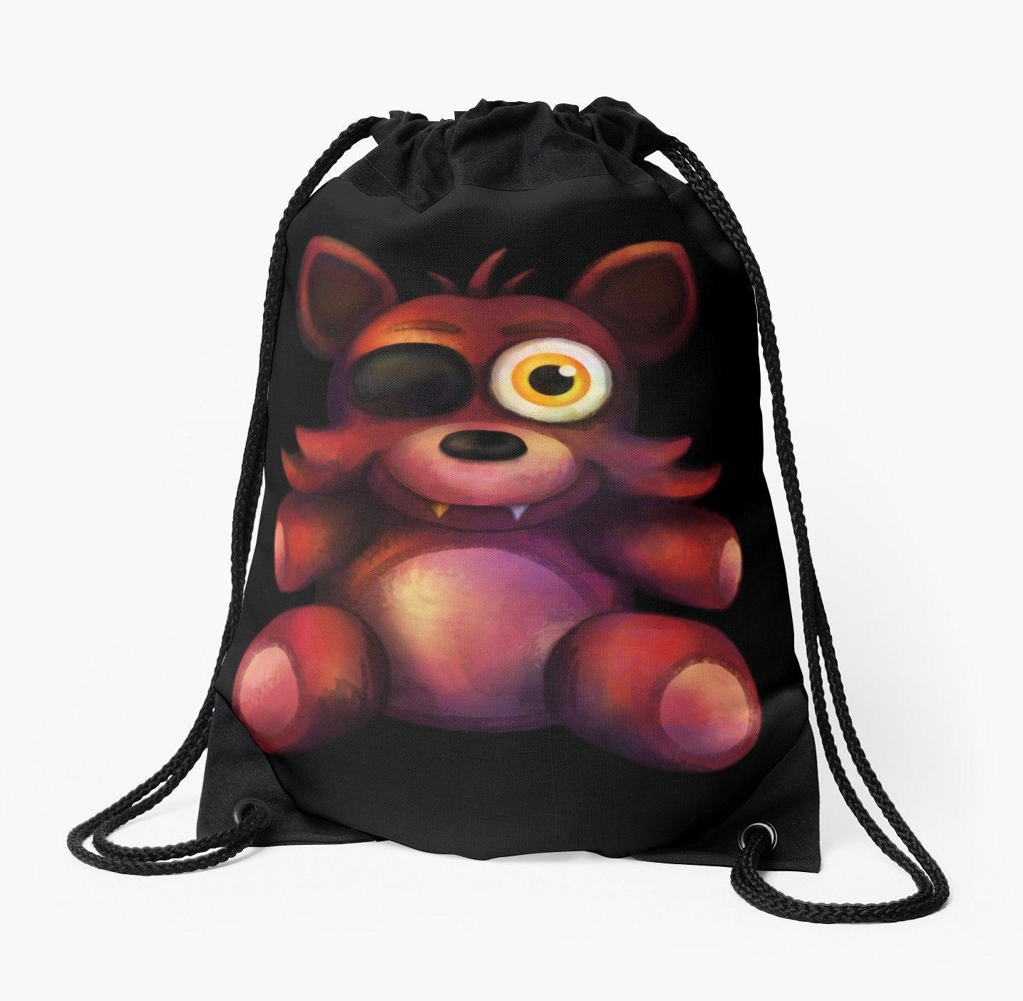 Fnaf freddy head for sale -  Five Nights At Freddy S Fnaf 4 Foxy Plush Drawstring Bag By Kaiserin