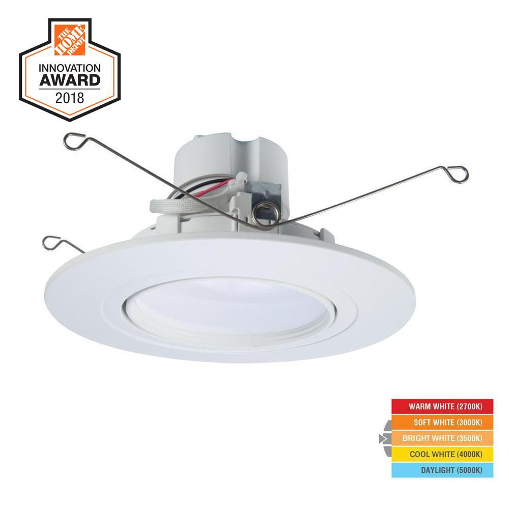 Halo Ra 5 And 6 In White Integrated Led Recessed Light