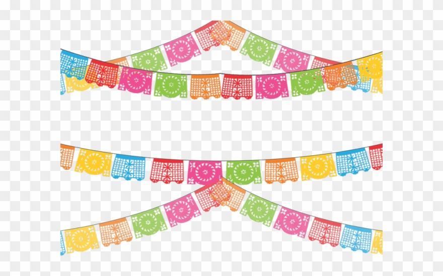 Mexican Clipart Transparent Background Papel Picado Banner Clipart Png Download Banner Clip Art Papel Picado Banner Free Clip Art