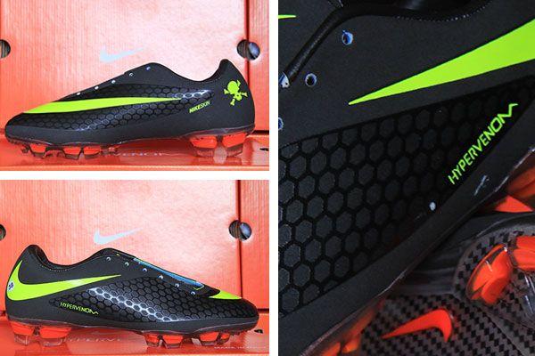 Jual Sepatu Bola Nike Hypervenom Hitam Strip Hijau Sepatu Hitam