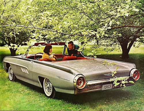 1963 Ford Thunderbird Convertible Old Car Ads