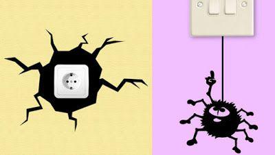 Ideas Creativas Para Decorar Los Enchufes Cables Y Apagadores De Nuestra Casa Ideas Creativas Para Decorar Apagadores Creatividad