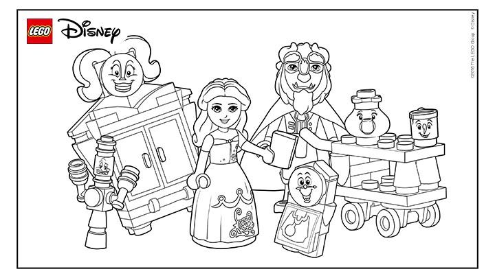 Coloring Fun With Beauty The Beast Lego Coloring Pages Lego