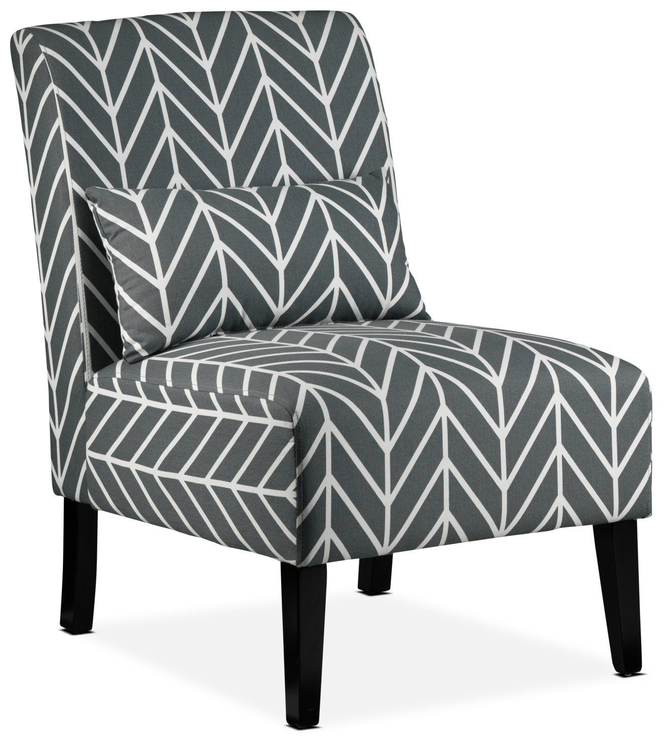Santos Accent Chair Grey Chevron Accent Chairs Armless Accent