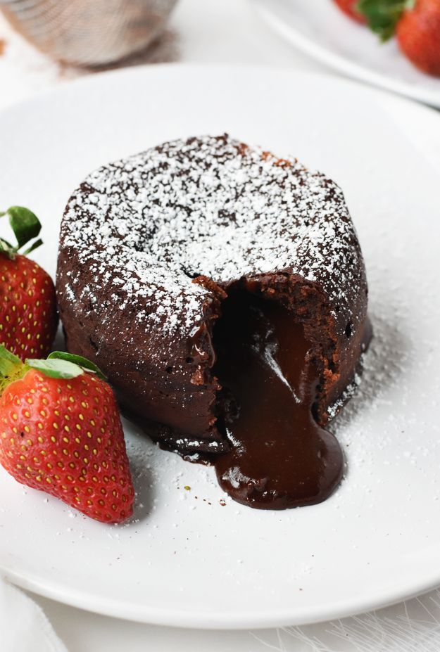 Chocolate Molten Lava Cakes for Two (Gluten-Free)