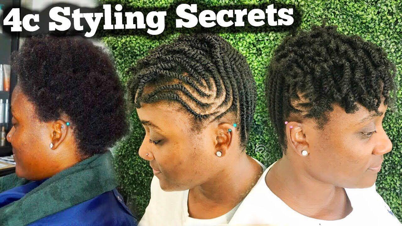 4c styling secrets tutorial tips for 4c hair youtube