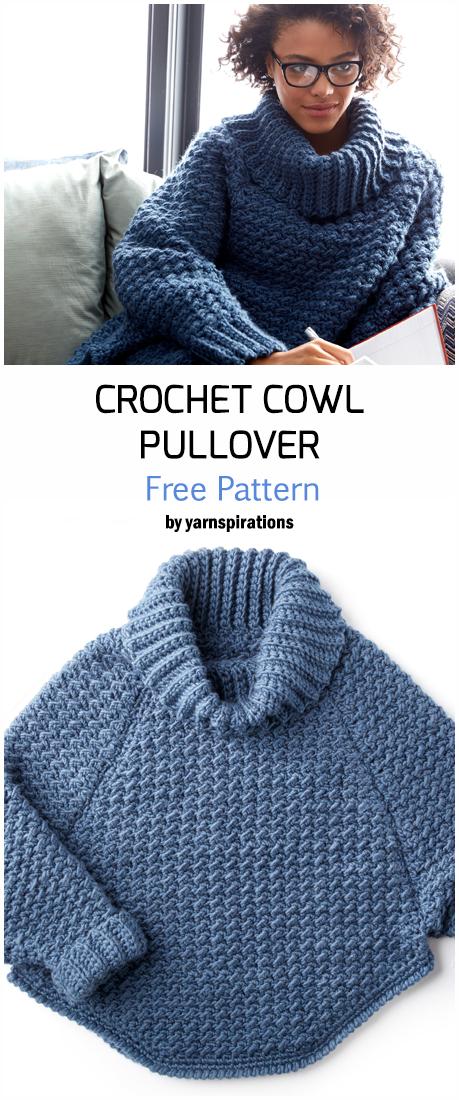 Crochet Curvy Cowl Pullover - Free Pattern   Free Crochet Patterns for sweater, ... -  Crochet Curvy Cowl Pullover – Free Pattern   Free Crochet Patterns for sweater, cardigan, puoolve - #Cowl #crochet #curbywomen #curvy #Free #getal #lingrie #loving #pattern #patterns #people #presentideasforwomen #pullover #sweater #womenbodybuilders