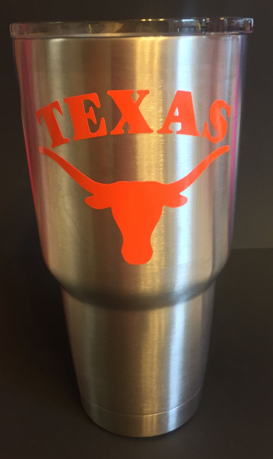 UT Longhorn Inspired Yeti Tumbler With Or Without Personalization - Custom vinyl decals utah