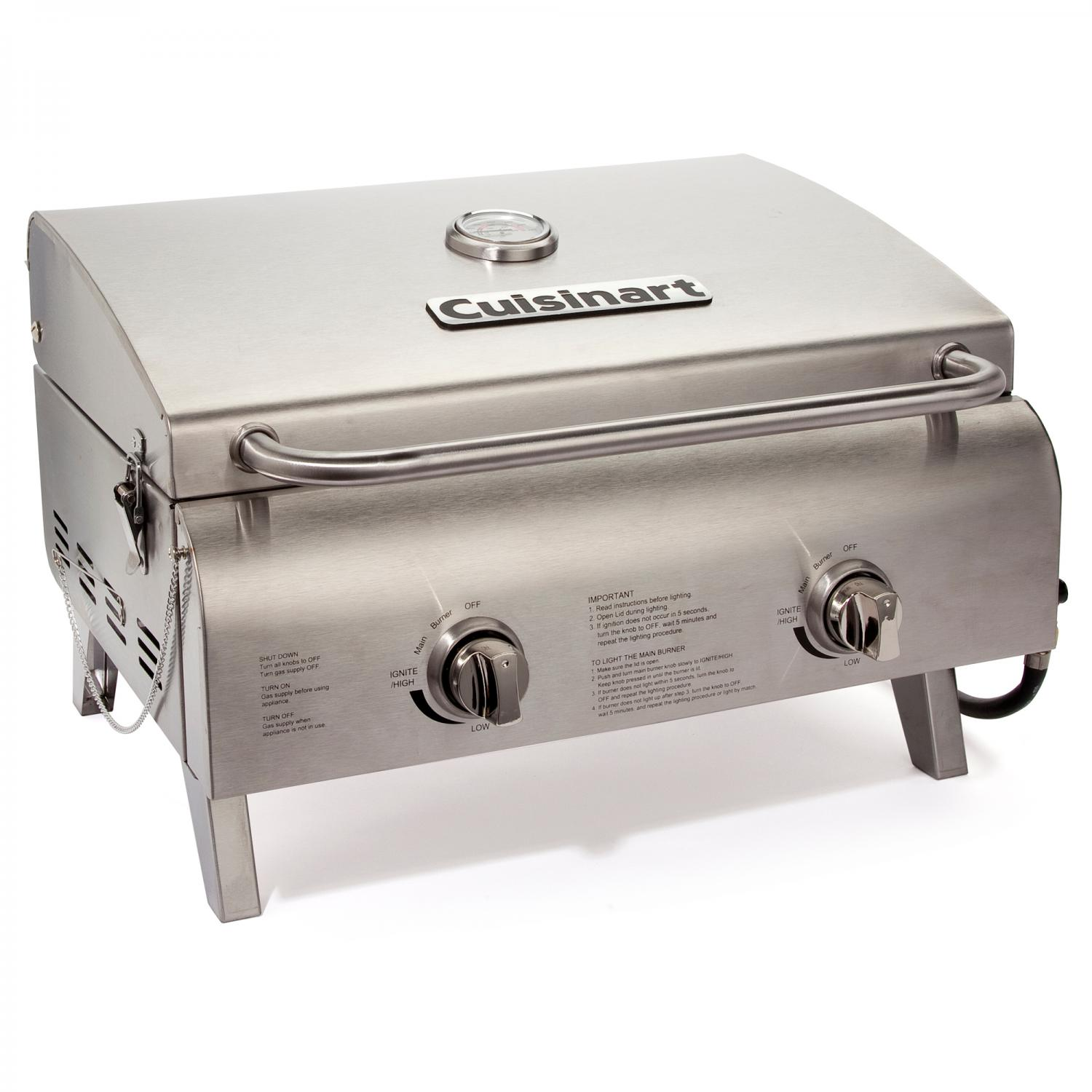 Cuisinart Chefs Style Portable Tabletop Grill Cgg 306 Best Gas