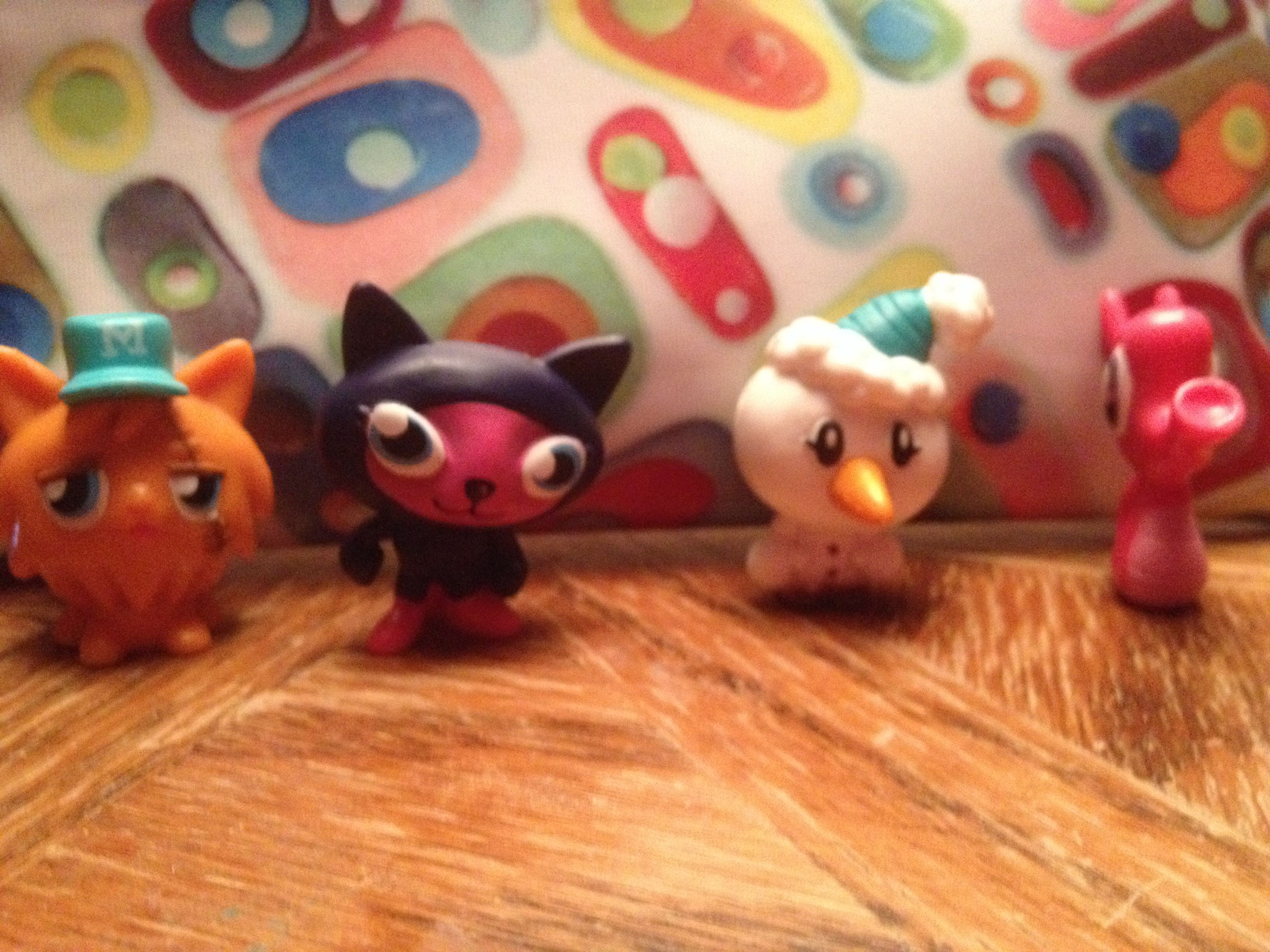 My Moshy monsters: Ginger, Snowy, Kitty and Stanley