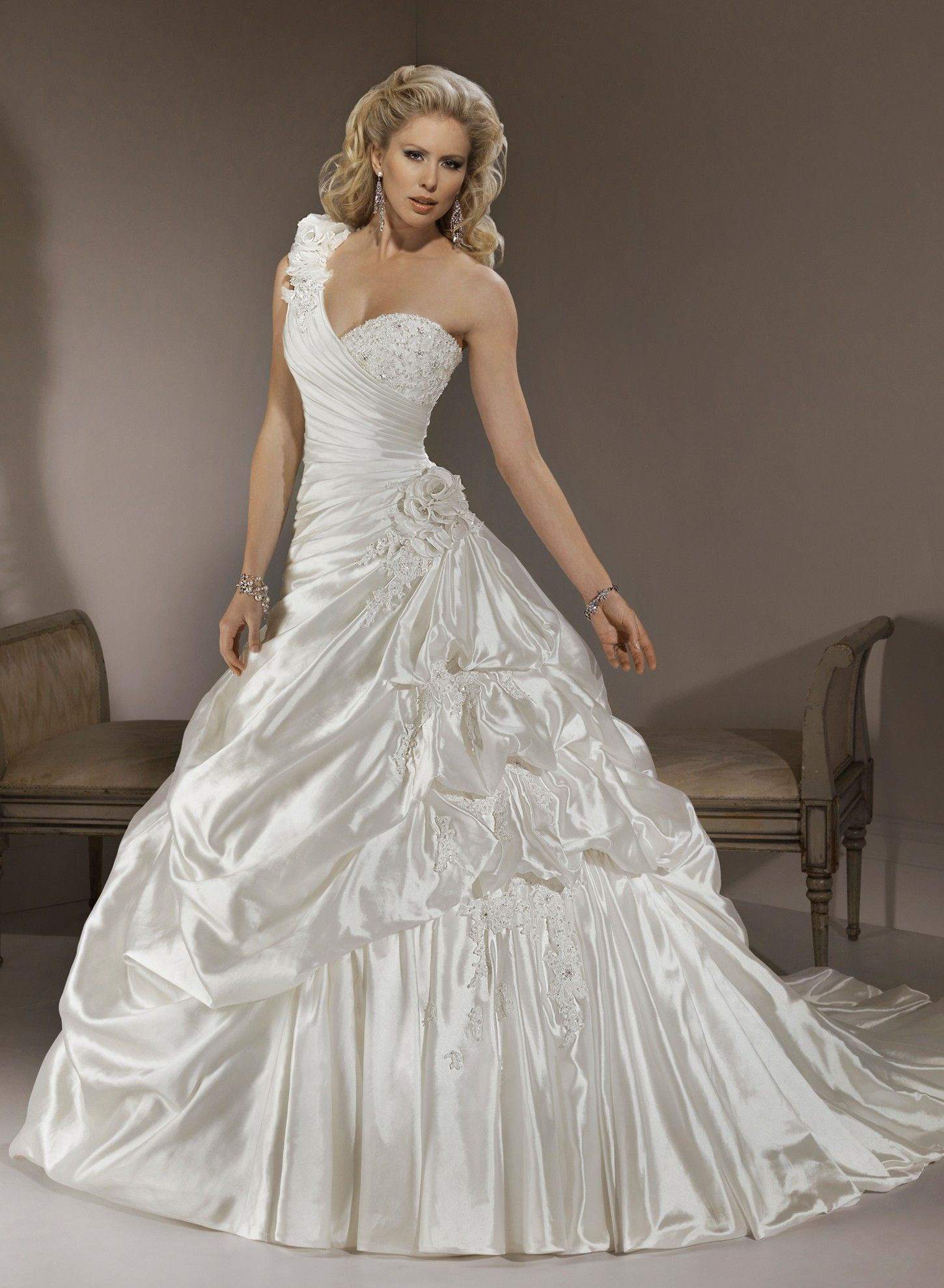 Wedding dresses in london shops  shoulder neckline ball gown wedding dress Fashion Style  Fashion