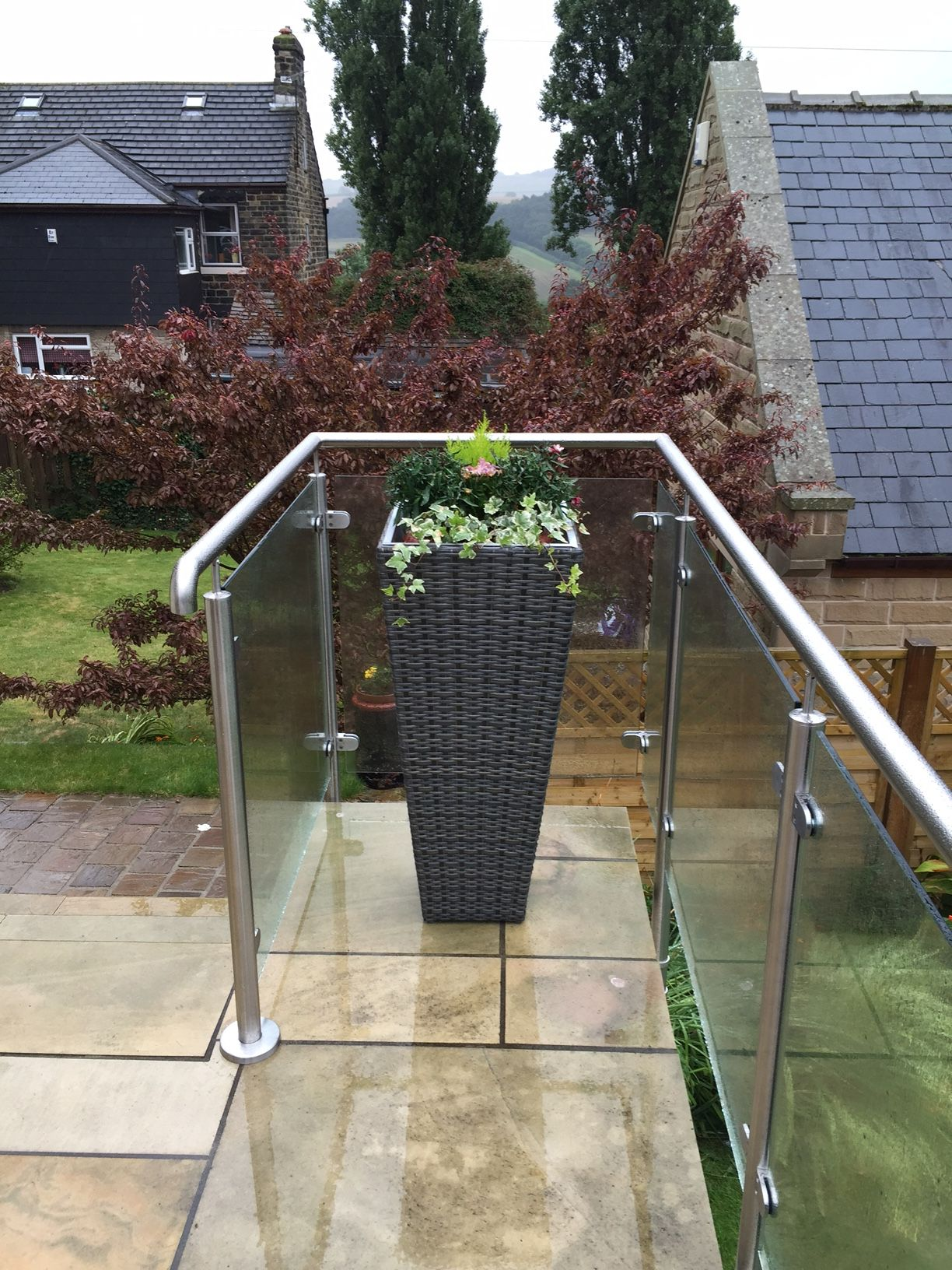 Glass Railing System Glass Balcony Glass Railing: External Glass Balustrade System To A Patio In Sheffield Uk