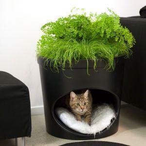 Pet Planter Katzenhohle Und Blumentopf 2 In 1 Katzenhohle