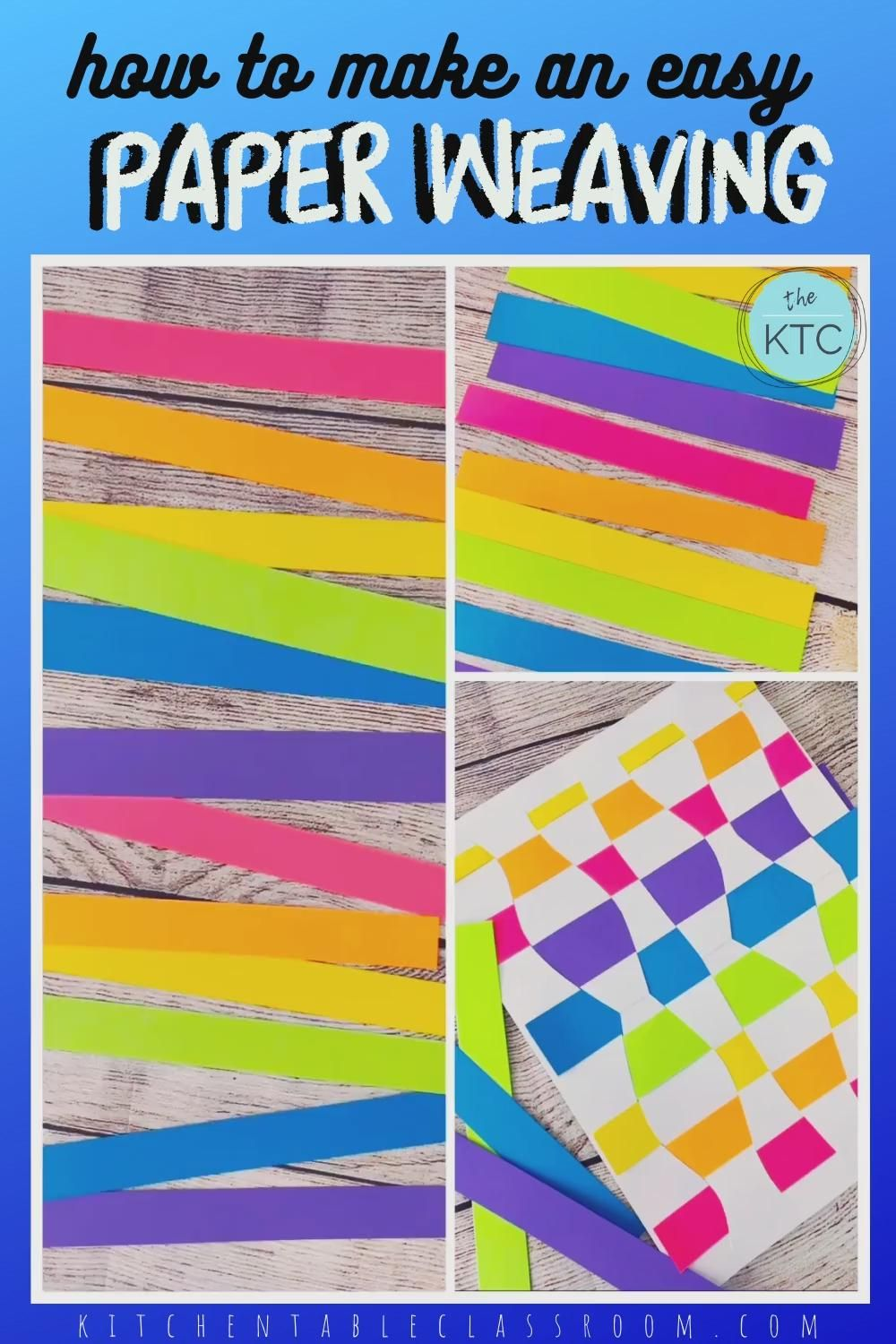 How to teach paper weaving skills