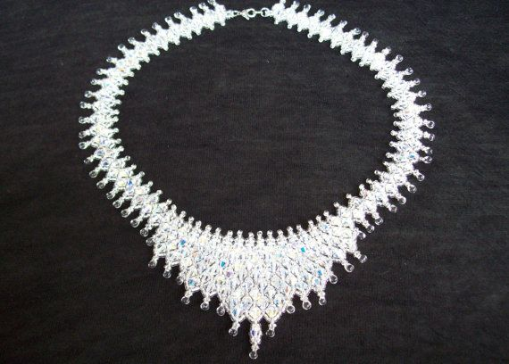 Bead pattern netted crystal bicone tiara necklace tutorial jewelry bead pattern netted crystal bicone tiara necklace tutorial jewelry beading beadweaving instructions pdf do it yourself how to solutioingenieria Gallery