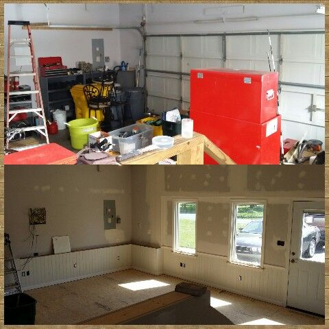 Garage conversion to office...almost done!