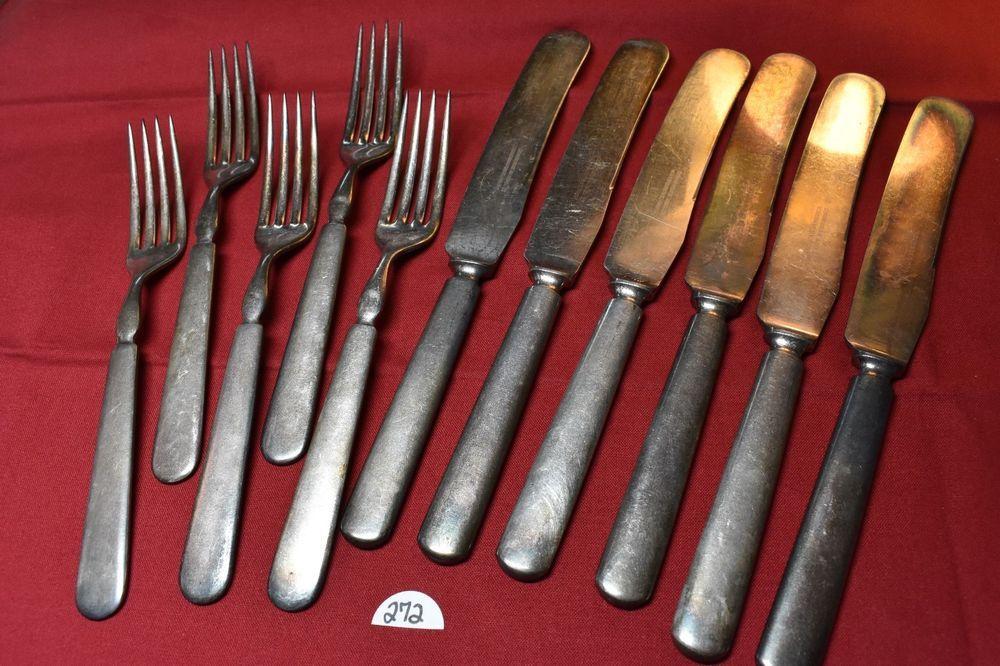 4 Vtg Rogers /& Bro Starlight Reinforced Silverplate Flatware Dinner Knives
