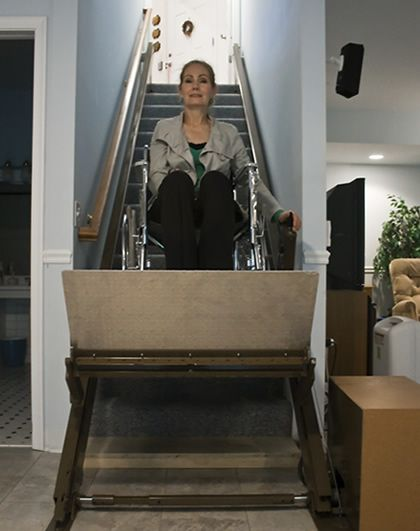 Inclined Platform Wheelchair Lifts For Stairs And Homes Butler Mobility Products Stair Lift Handicap Accessible Home Wheelchair