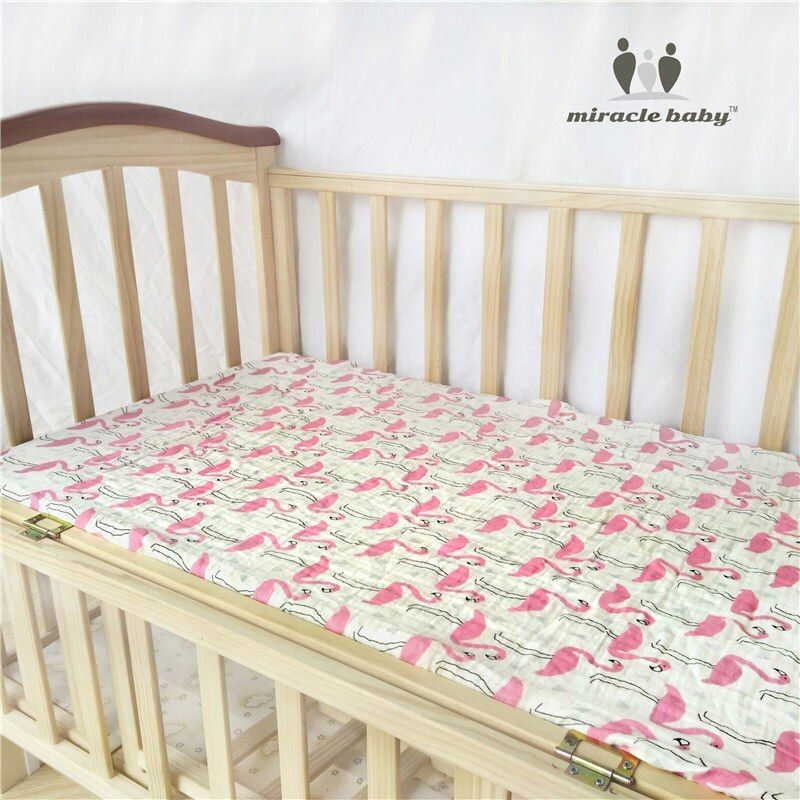 MIRACLE BABY Fitted Sheet 100 Cotton Home Textile Bed