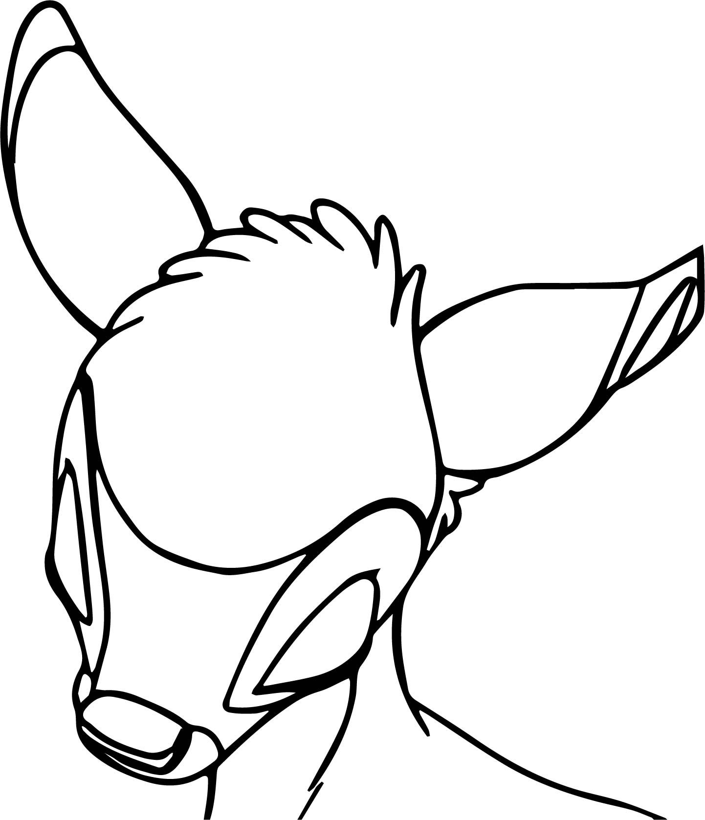 Bambi Head Sleep Coloring Pages | wecoloringpage | Pinterest