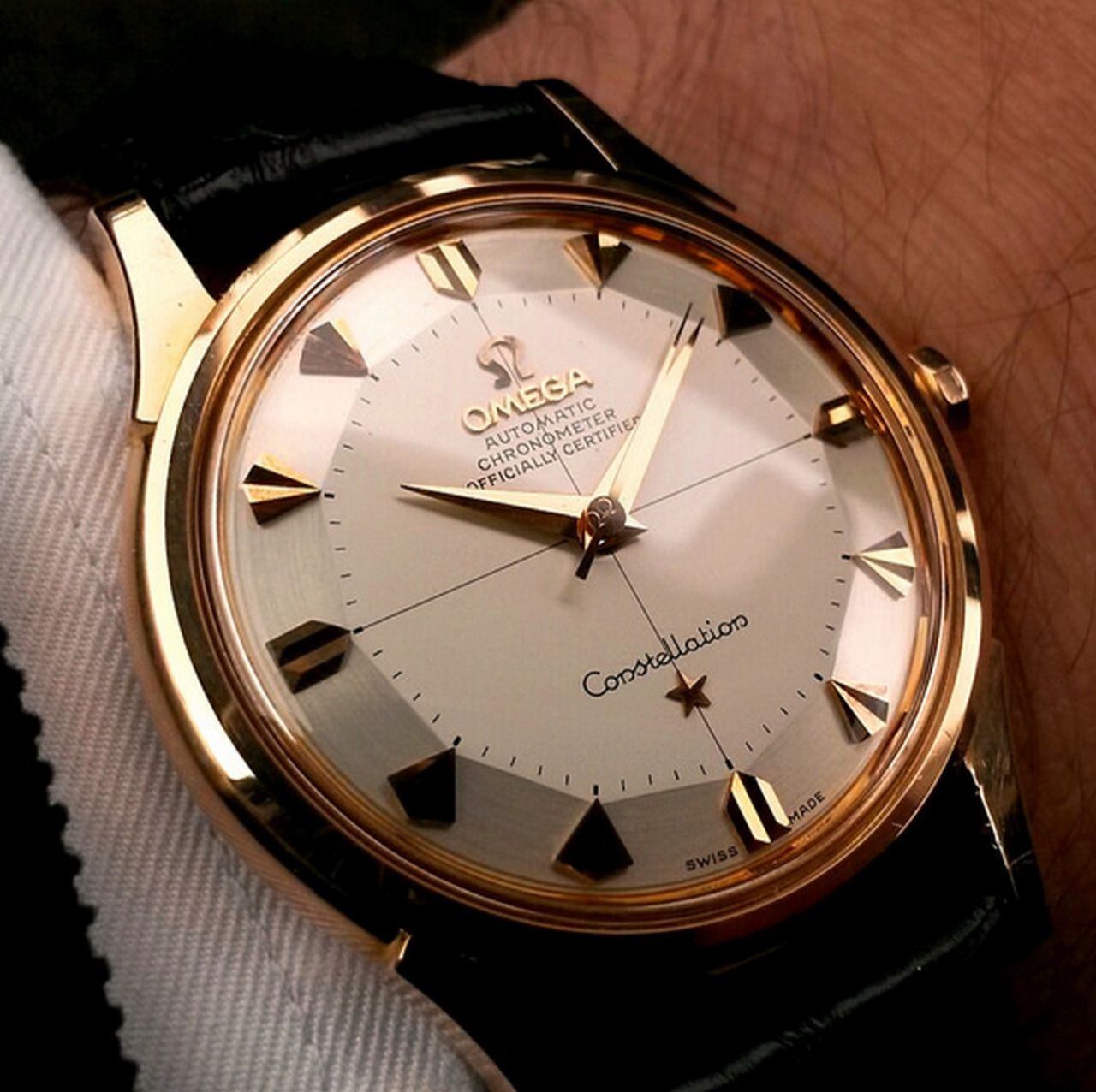 b57a0eb8848 Vintage OMEGA Constellation Piepan Chronometer In Solid Gold Circa 1950s -  http   omegaforums