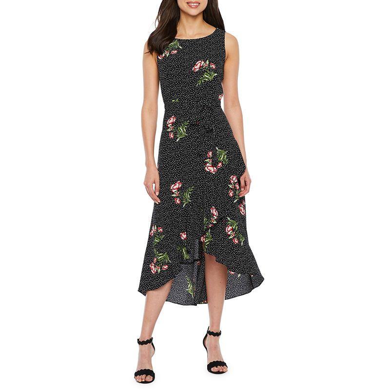 1383d1d3f5f Peyton   Parker Short Sleeve Floral Wrap Dress - JCPenney