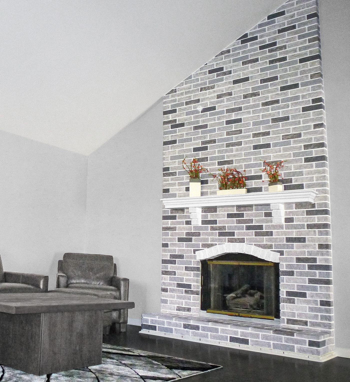 Fireplace makeover for 45 in 2020 brick fireplace