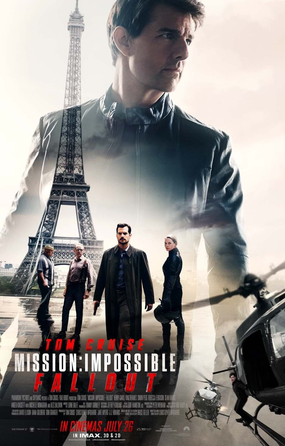 Mission Impossible Fallout Uk Poster Moviestv Mission