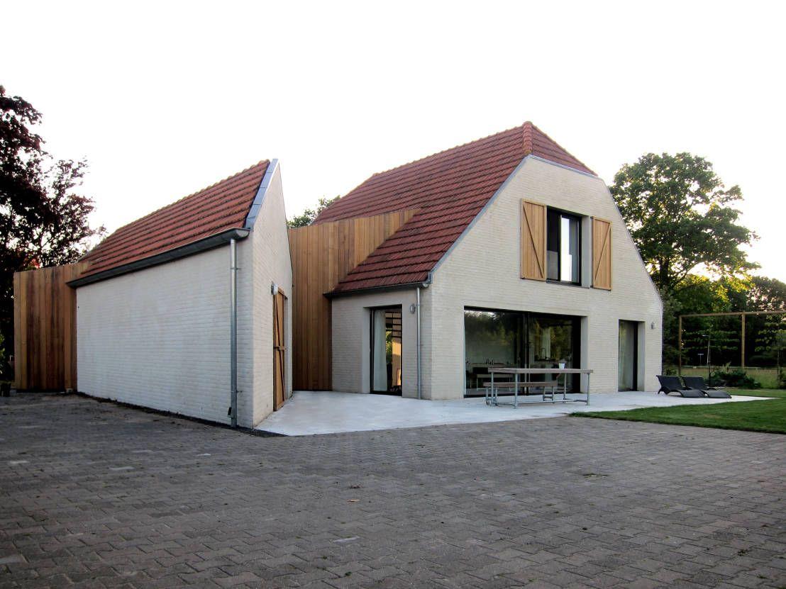 Moderner Umbau eines Bauernhauses aus Backstein | Die fünf, Gefasst ...