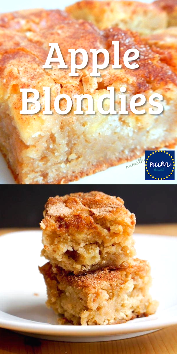 Apple Blondies #applerecipes