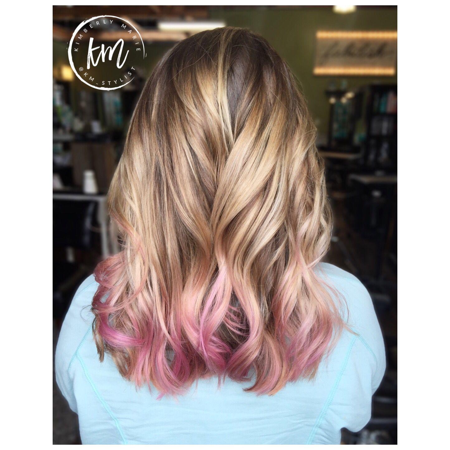 Pink Hair Pink Balayage Pink Ends Pink Hair Balayage Hair