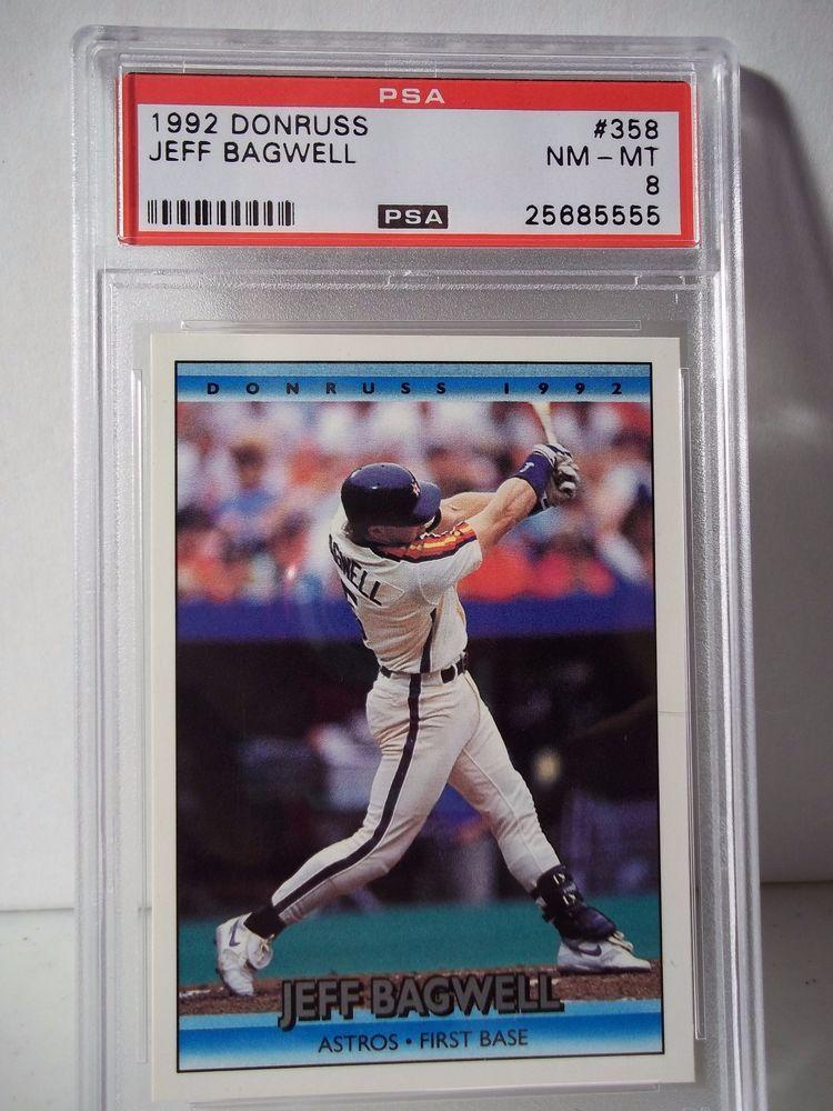 1992 donruss jeff bagwell rc psa nmmt 8 baseball card