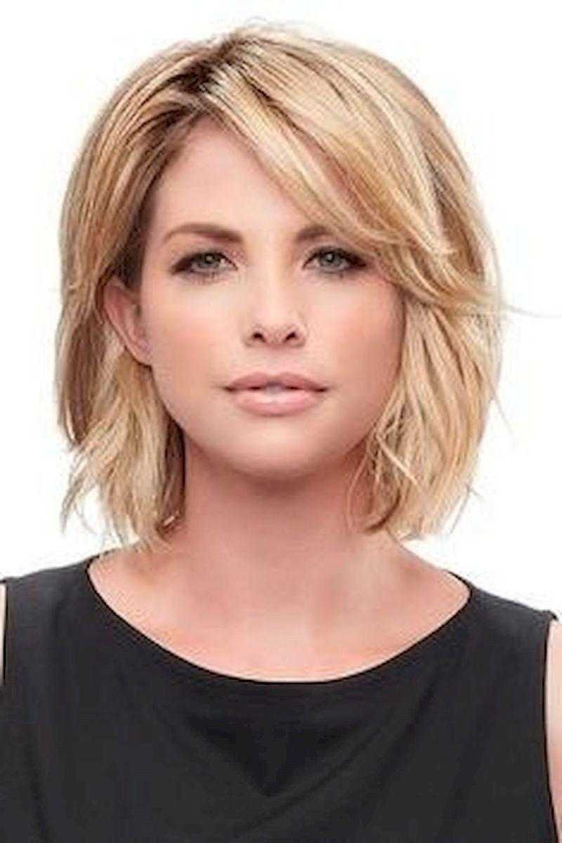 Super Chic Hairstyles For Women Over 40 23   Kapsels, Kapsel halflang fijn  haar, Halflang haar kapsels