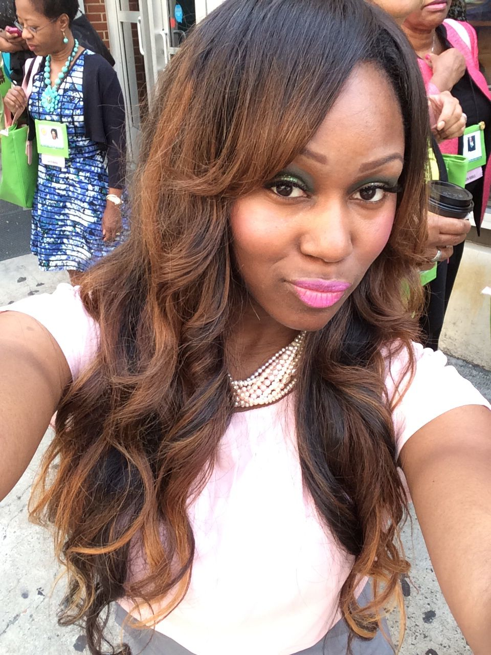 Full hair unit with indique crown wavy inch and pure wavy