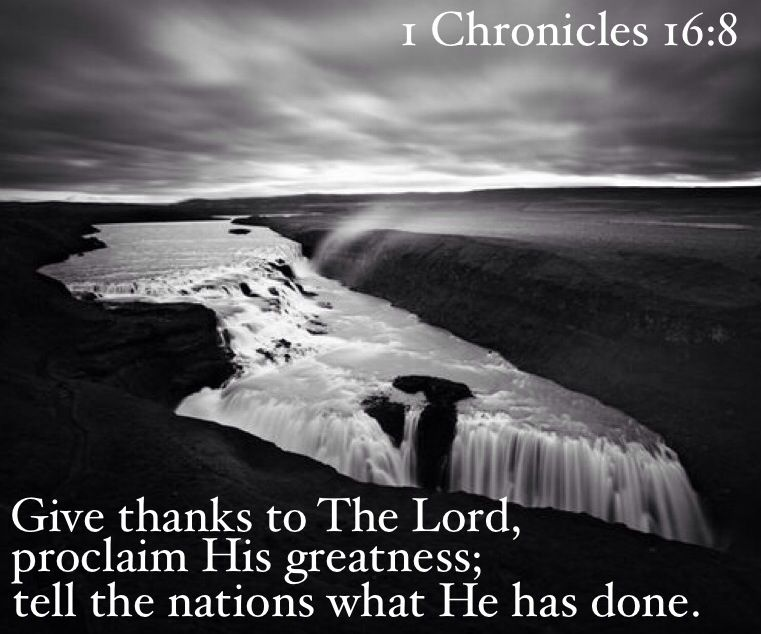 1 chronicles 16:8
