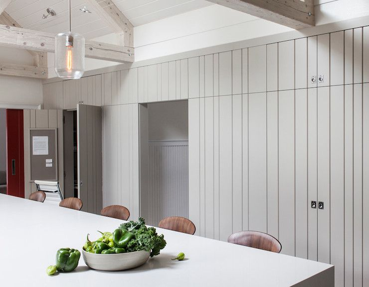 Idea Possible Paneling Application For Closet Doors Walls To Conceal The Closet Doors With Paneling Tongue And Groove Walls Dream Kitchens Design Closet Doors