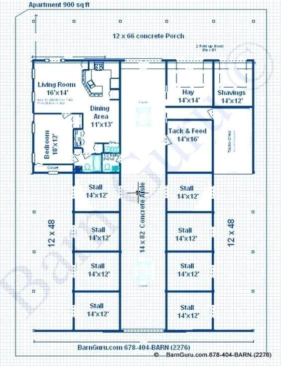 Barn Plans With Living Quarters Barn Apartment Floor Plans Elegant
